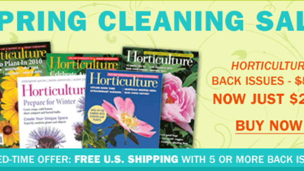 Shop the Spring Cleaning Sale to Get Issues of Horticulture for just $2.00!