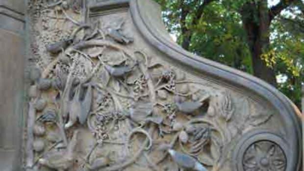 Stonework Panel at Bethesda Terrace