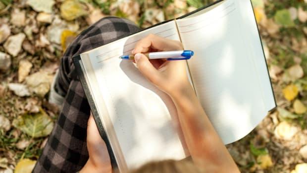 Taking notes in garden Horticulture