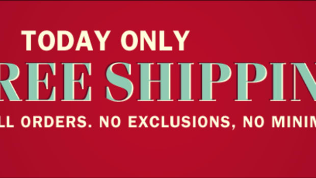 TODAY ONLY - No Shipping Charges!