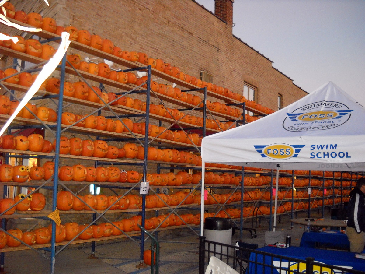 Another wall of pumpkins....