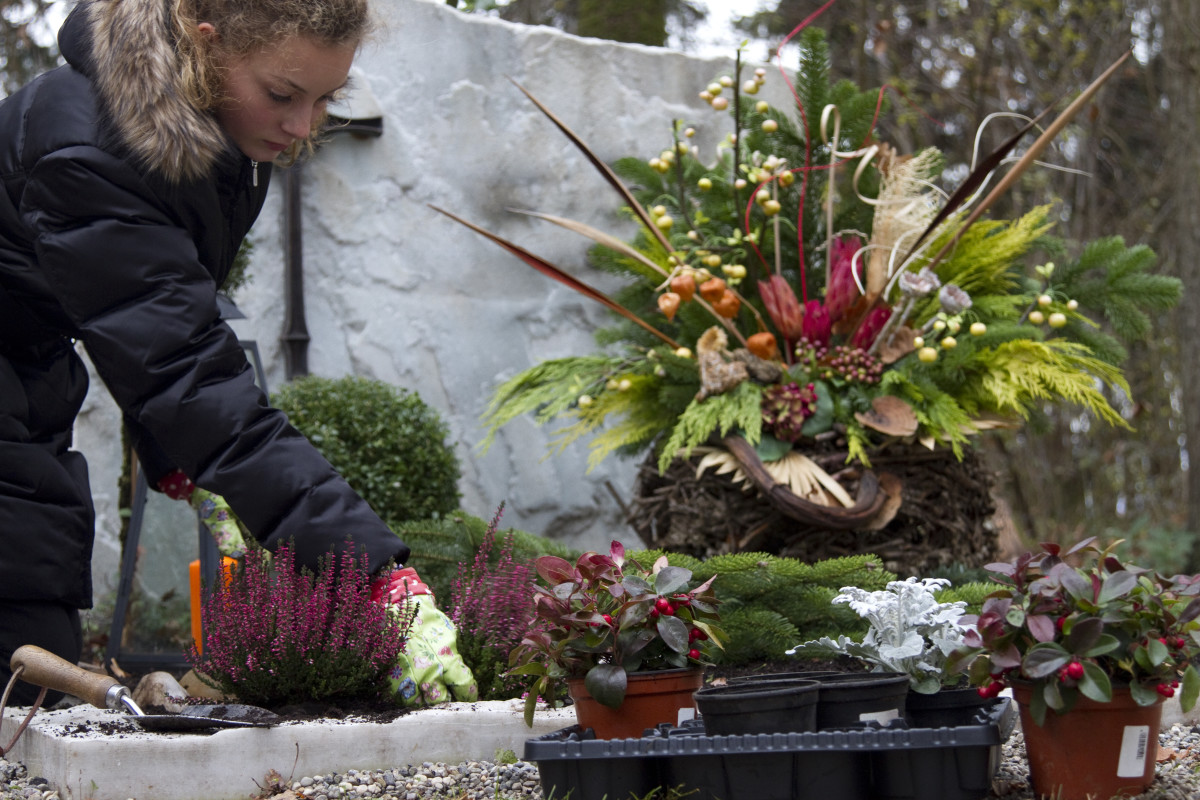 planting in a cemetery
