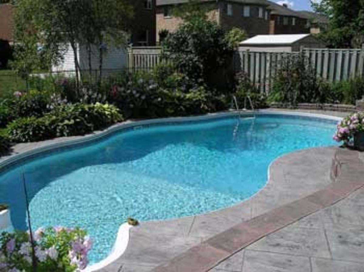 Landscaped under-ground pool