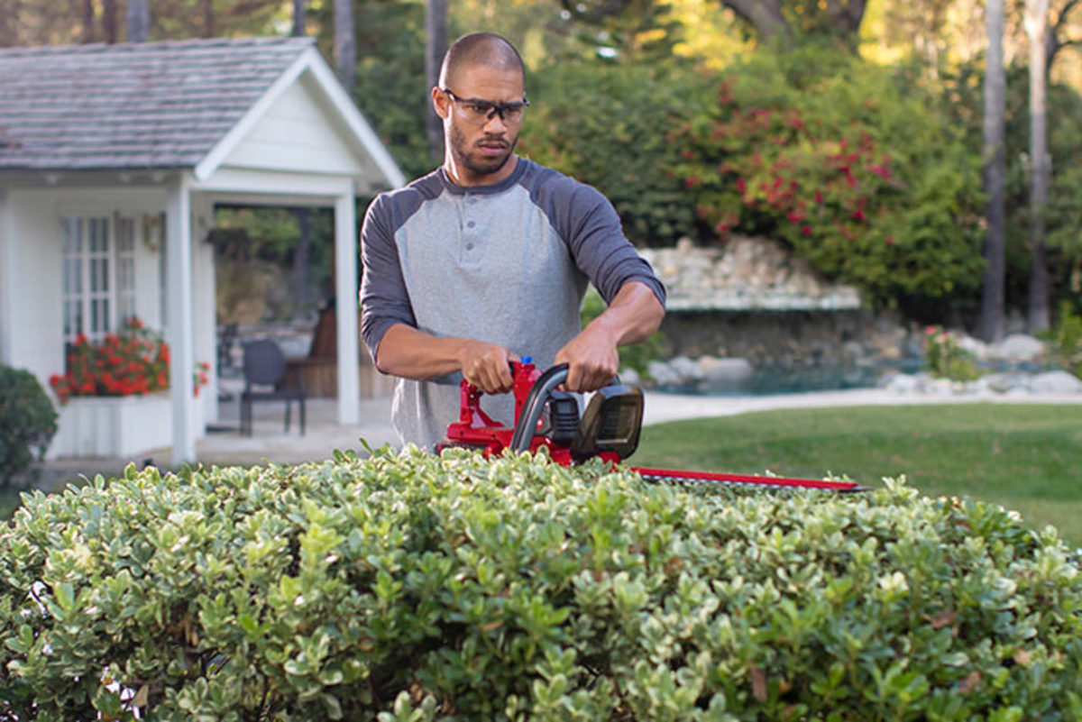 Cordless hedge trimmers like Toro's PowerPlex make the job hassle free.